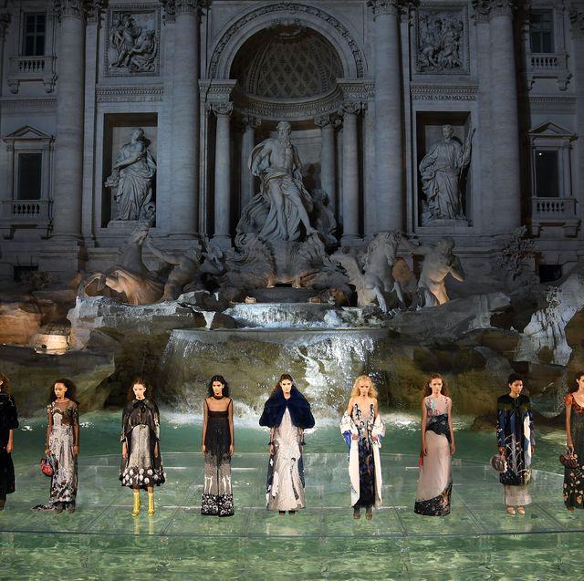 fendi roma 90 years anniversary   fashion show
