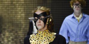 ロシアの若手モデルの1人として注目のクリスティーナ・マヨロワが、グッチ2019/20秋冬コレクションのランウェイに登場。Gucci - Runway - Milan Fashion Week Autumn/Winter 2019/20