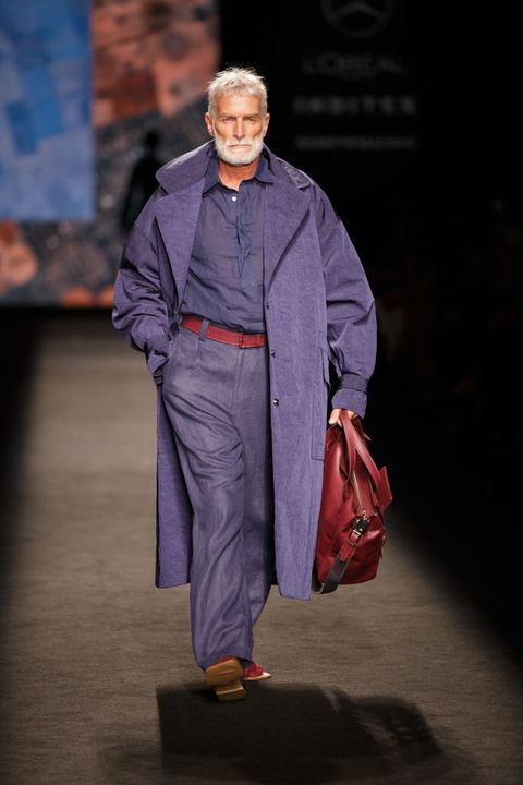 marcos luengo  catwalk mercedes benz fashion week madrid september 2021