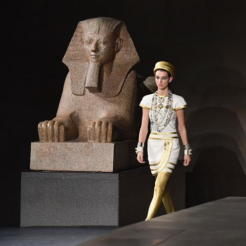 Chanel Presents Ancient Egypt Themed Metiers D Art Collection At The Metropolitan Museum Of Art