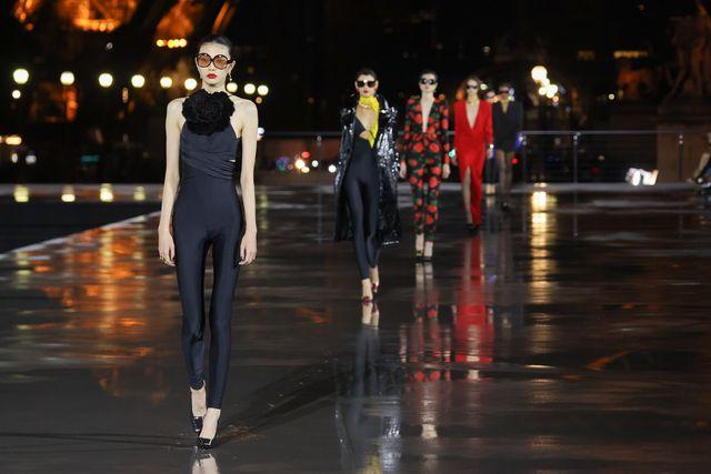 saint laurent  runway   paris fashion week   womenswear spring summer 2022