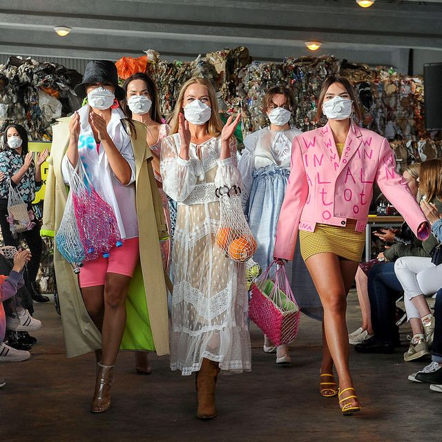 Fashion show at dumping ground outside Minsk to raise awareness about waste recycling