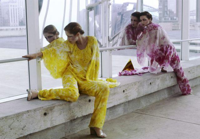 models in tie dye