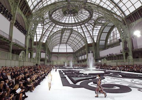 Models present creations by German desig