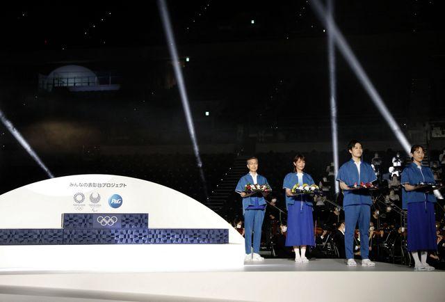 ceremonia de medallas de los juegos olímpicos de tokio 2020