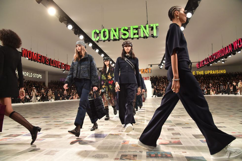 "Christian Dior Comments on ""Consent"" with Its Fall 2020 Collection"