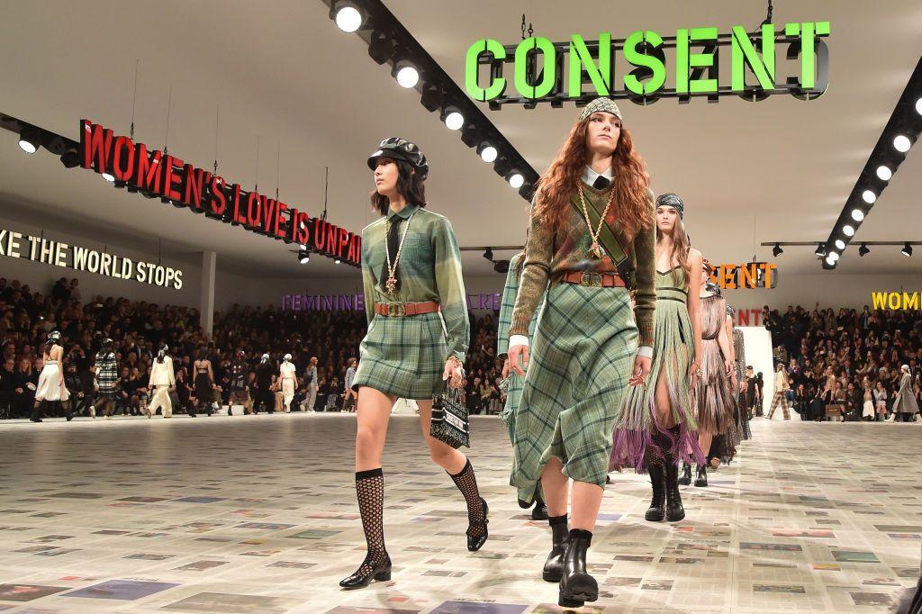 Maria Grazia Chiuri Puts Feminist Agenda Front and Center at Dior's Fall 2020 Show