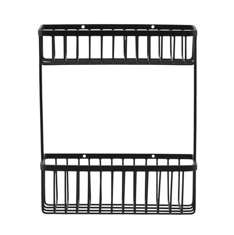 the find store large steel black bathroom shelf basket