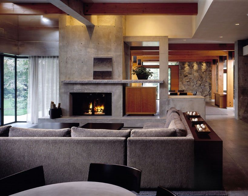 Contemporary Living Room Fireplace Ideas Ideas