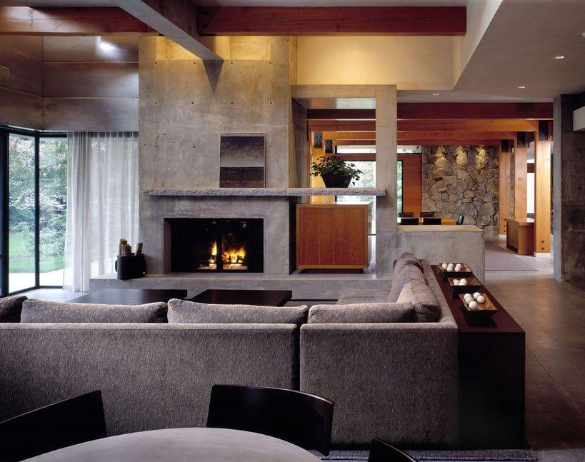 Contemporary Living Room Fireplace Ideas Ideas