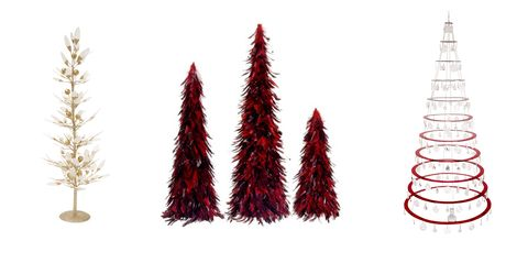 modern christmas trees - Tinsel Christmas Decorations