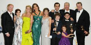 64th Primetime Emmy Awards - Press Room modern family cast netflix
