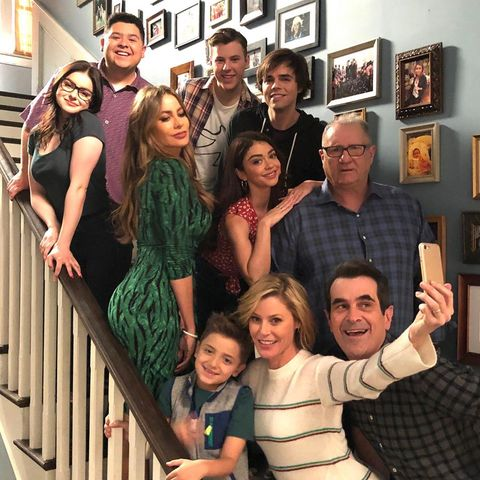 Modern family cast on Instagram
