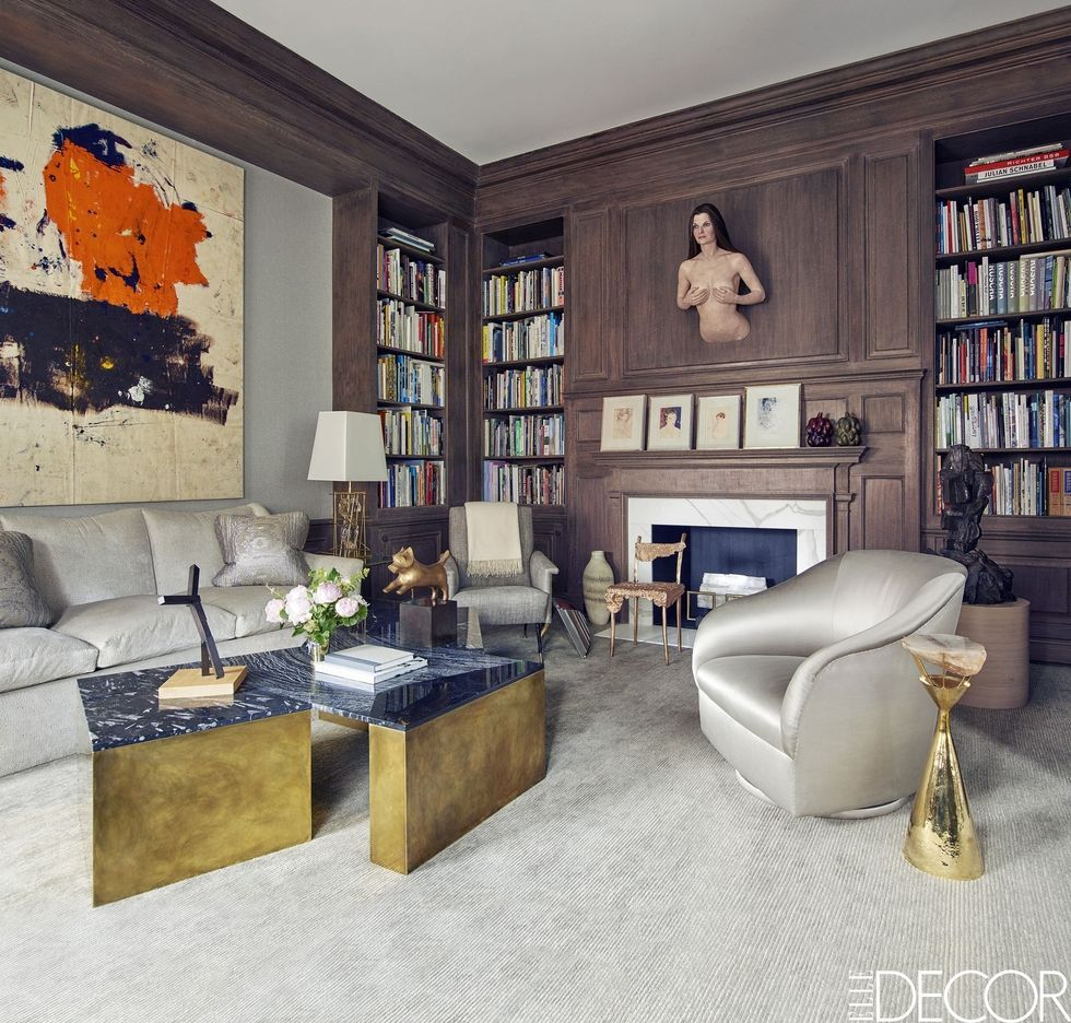 The 18 Best Home Office Design Ideas With Photos: Contemporary Fireplace Design