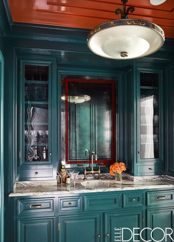 Elle Decor & 24 Green Kitchen Design Ideas - Paint Colors for Green Kitchens