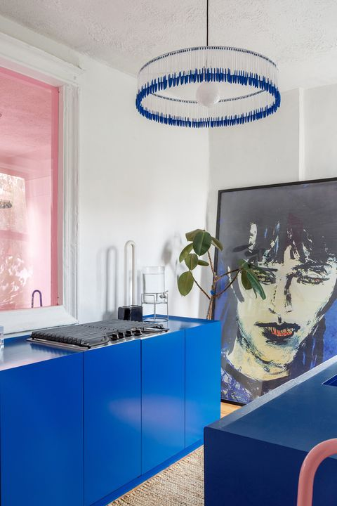 Blue, Interior design, Room, Property, Design, Building, Architecture, Material property, House, Furniture,