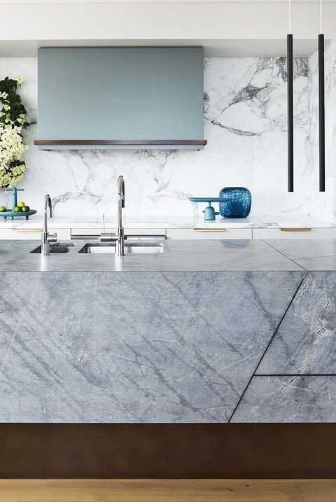 Countertop, Room, Sink, Tile, Property, Tap, Interior design, Furniture, Marble, Kitchen,