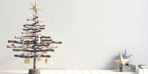 Christmas tree, Tree, Vehicle, Christmas decoration, Airplane, Plant, Interior design, Aircraft, Pine family,