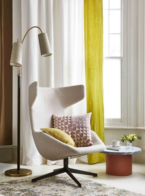 Neutral colour schemes - room decorating ideas - style inspiration - reading nook