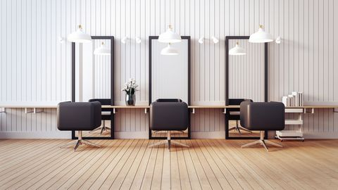 modern salon interior  3d render image