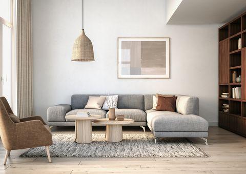 modern scandinavian living room interior   3d render