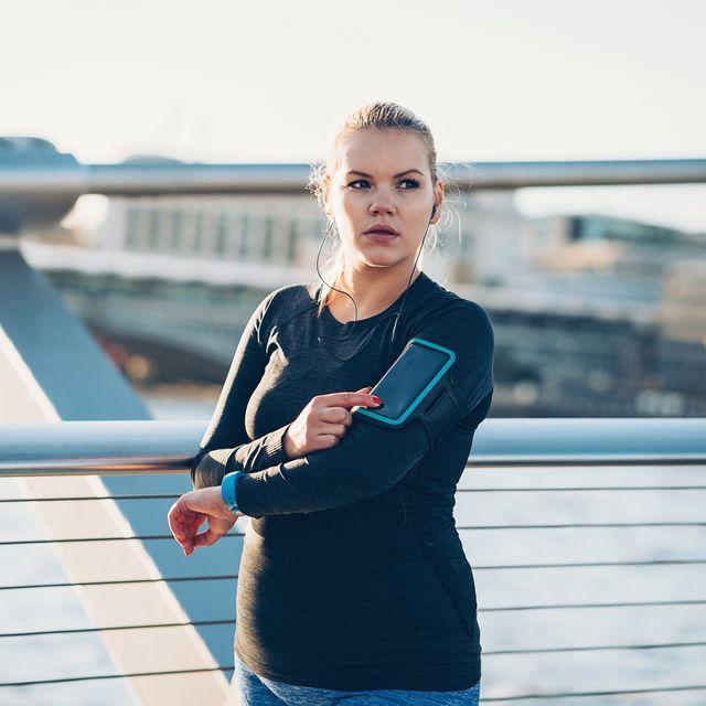 modern young sportswoman