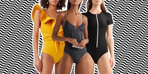 Clothing, One-piece swimsuit, Monokini, Swimwear, Leotard, Maillot, Yellow, Bikini, Thigh, Sportswear,