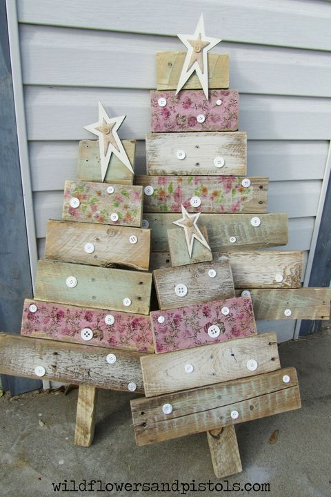 modge podge pallet christmas tree - Wood Pallet Christmas Tree