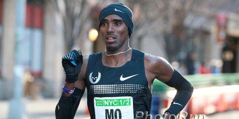 Mo Farah at NYC Half 2014