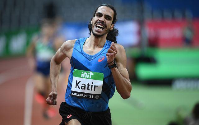 el atleta español mohamed katir corre en karlsruhe