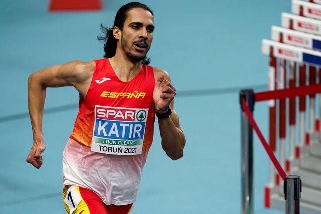 el atleta mohamed katir en el europeo bajo techo de atletismo de 2021