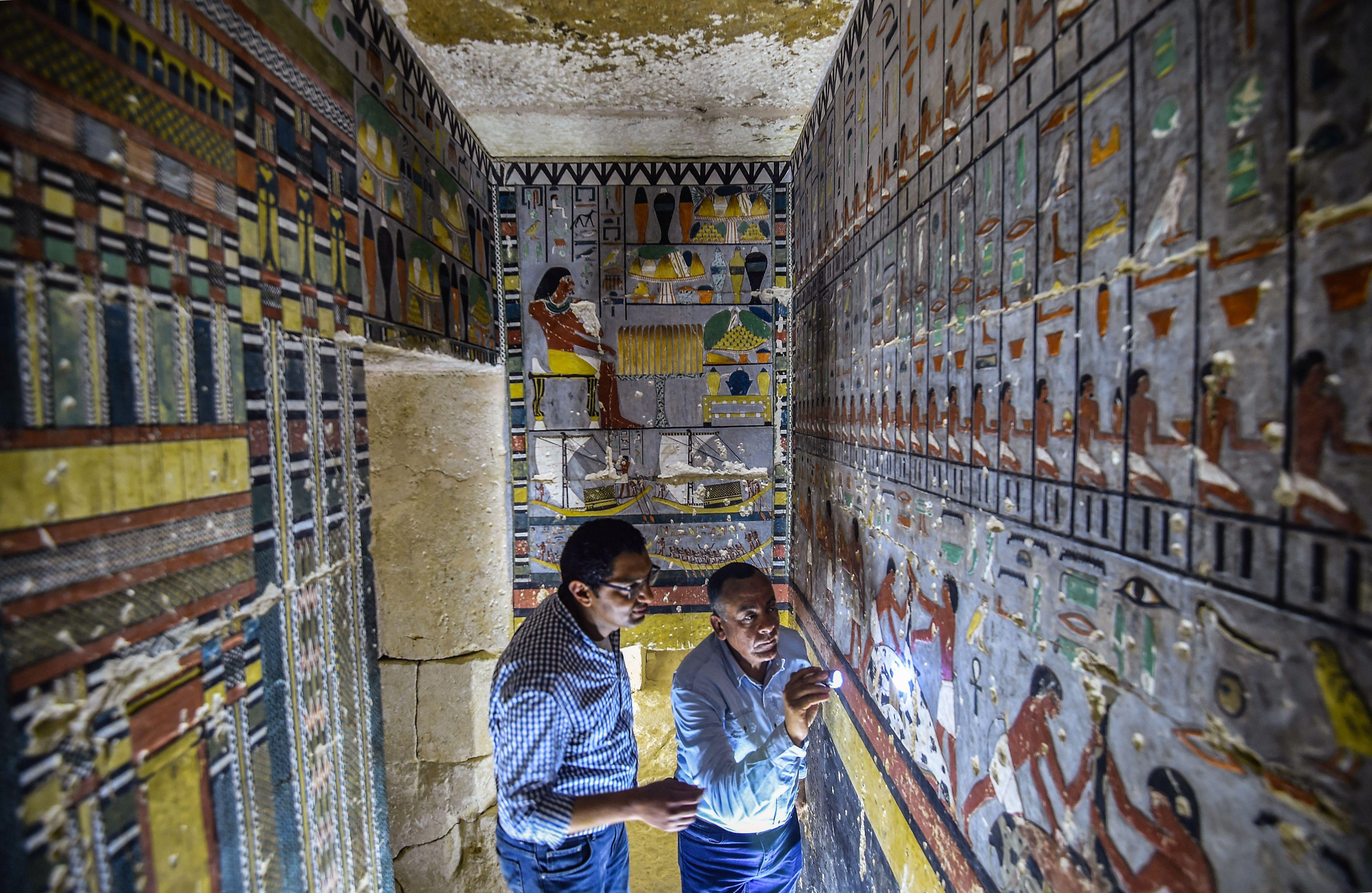 Cuatro mil años después esta tumba egipcia parece recién pintada