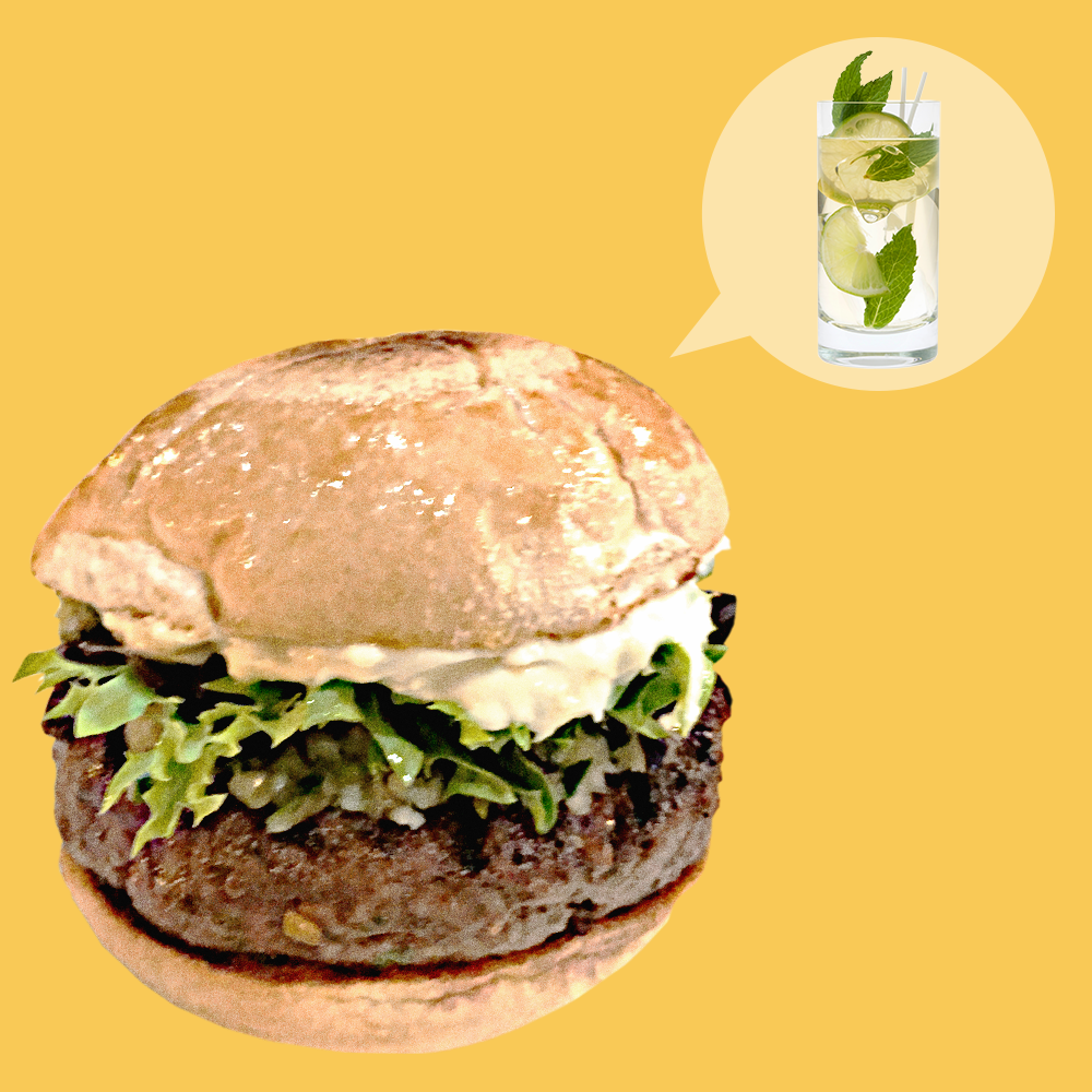 How to Make a Burger That Tastes Like a Mojito Cocktail