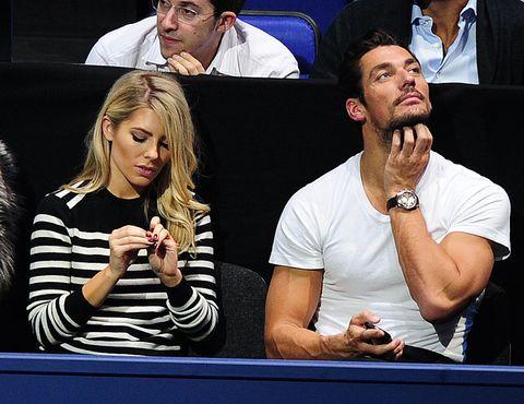 Mollie King, David Gandy, awkward, tennis, exes