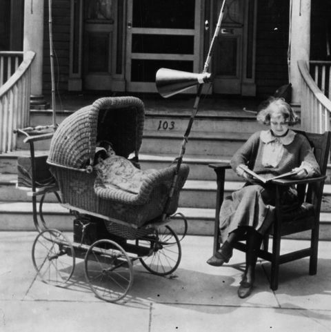 Product, Photograph, Baby carriage, Baby Products, Sitting, Snapshot, Monochrome, Black-and-white, Chair, Furniture,