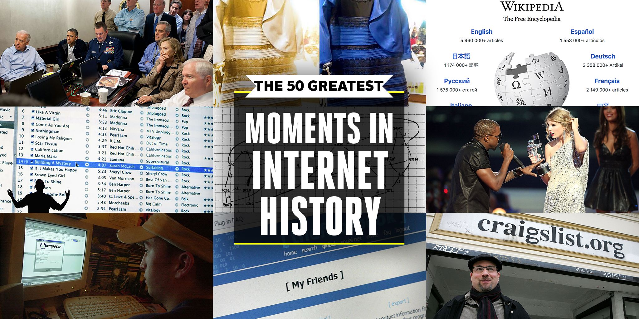 The 50 Greatest Moments in Internet History