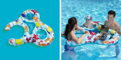 mommy and me pool float for 2 babies