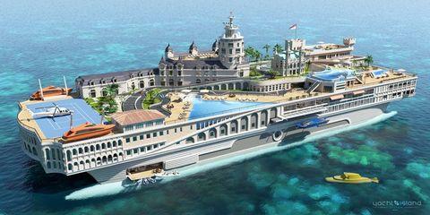 the streets of monaco, de yacht island design