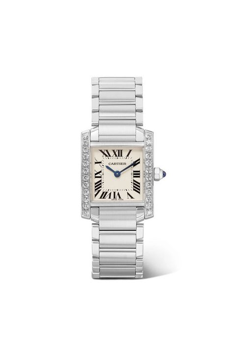 Analog watch, Watch, Watch accessory, Fashion accessory, Jewellery, Silver, Platinum, Metal, Material property, Rectangle,