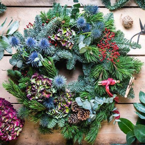 fresh foliage christmas wreath