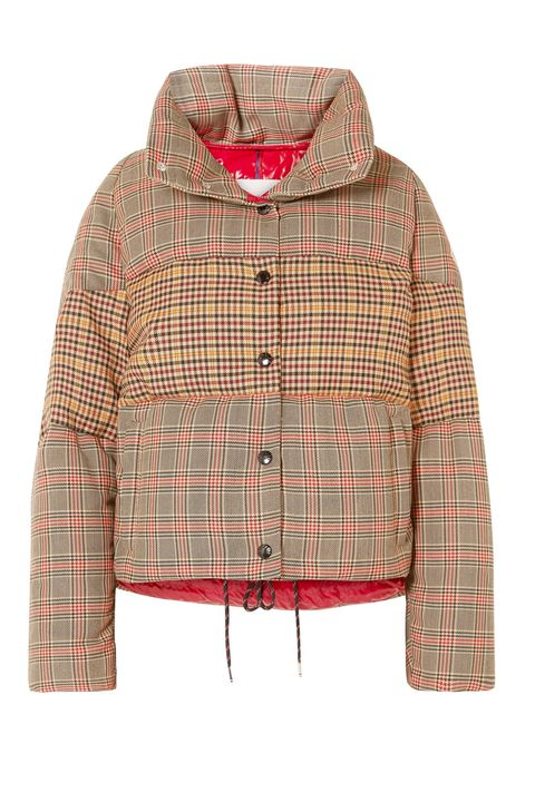 Clothing, Outerwear, Jacket, Hood, Sleeve, Red, Plaid, Pattern, Design, Top,