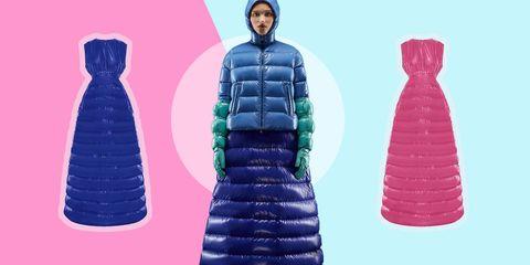 finest selection 34c00 152fd Moncler, il piumino-vestito da donna per freddolose croniche