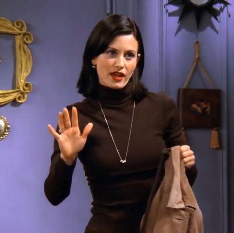 Monica Geller by the door, Friends