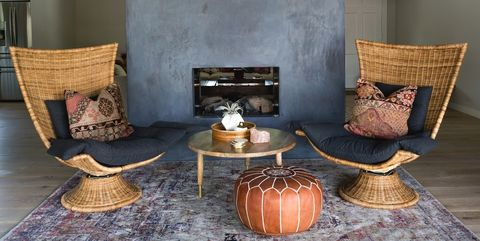Room, Furniture, Living room, Interior design, Property, Table, Chair, Floor, Brown, Lighting,