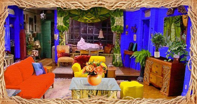 if frida kahlo designed monicas living room from friends
