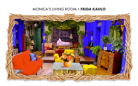 monicas living from from friends if designed by frida kahlo