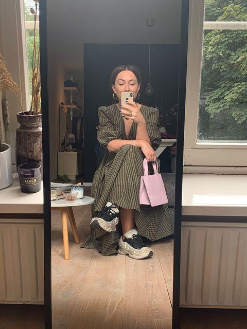 Geruite jurk ootd herfstjurken