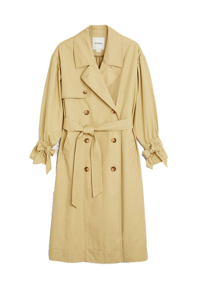 Monki beige classic trench coat with tie cuffs - cheap trench coat