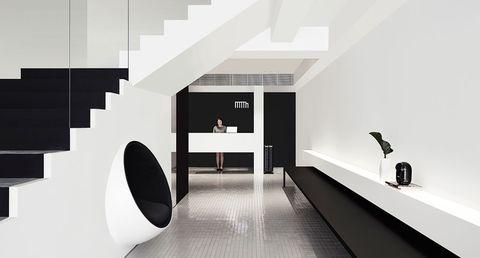 monochromatic design hotel - Minimalist Hotel Design
