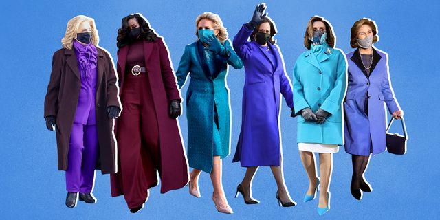 dr jill biden, michelle obama, hillary clinton kamala harris, nancy pelosi, inauguration, monochromatic